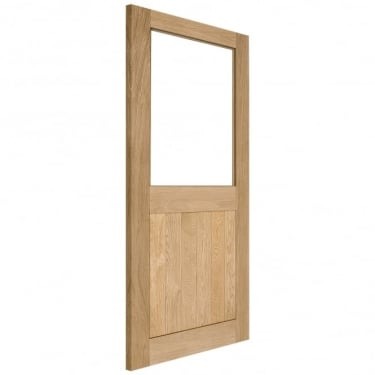 Internal Solid Oak Unfinished 2XG 1L Unglazed Solid Door (2XG-INT)