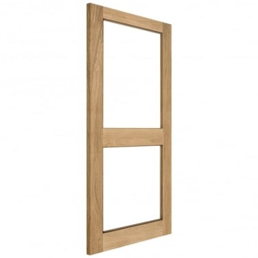 Internal Solid Oak Unfinished 2XGG 2L Unglazed Solid Door (2XGG-INT)