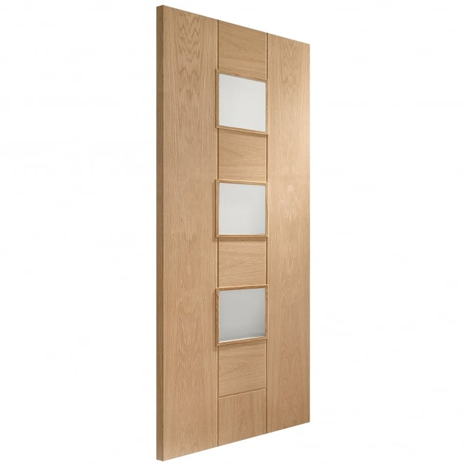 XL Joinery Internal Unfinished Oak Messina Door with Obscure Glass