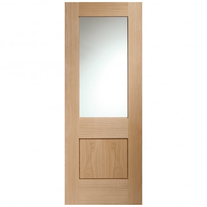 XL Joinery Internal Unfinished Oak Piacenza Door With Clear Glass