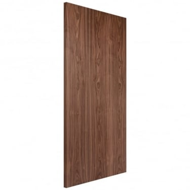 Internal Walnut Fully Finished Crown Cut Flush FD30 Fire Door (WALOVF)