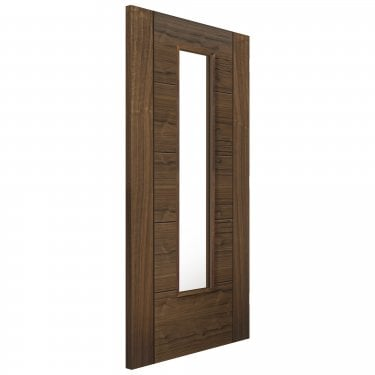Internal Walnut Fully Finished Emral 1L Solid Door with Clear Glass (WEMR)