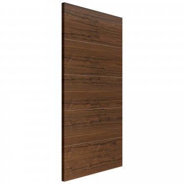 Internal Walnut Fully Finished Lara Flush FD30 Fire Door (WLARFD30)