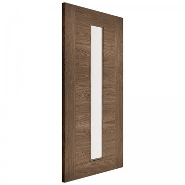 Internal Walnut Fully Finished Sofia 1L Door with Clear Glass (WSOFIAGL)