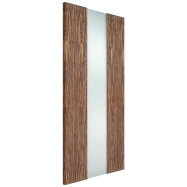 Internal Walnut Fully Finished Zaragoza 1L Door with Frosted Glass (L501WAL)