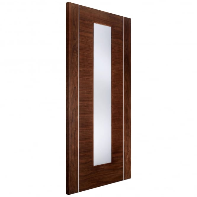 LPD Doors Internal Walnut Pre-Finished Alcaraz Europa Door with Frosted Glass