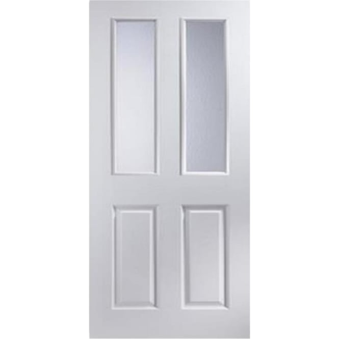 Jeld-Wen Internal White Moulded Bostonian/Oakfield Obscure Glass Door