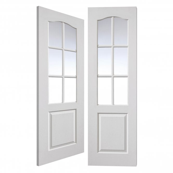 Internal White Moulded Classique Pair Door With Clear Glass