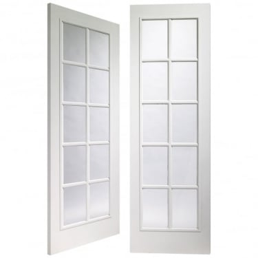 Internal White Moulded Fully Finished Portobello 20L Pair Door with Clear Glass (GWMPFPOR)