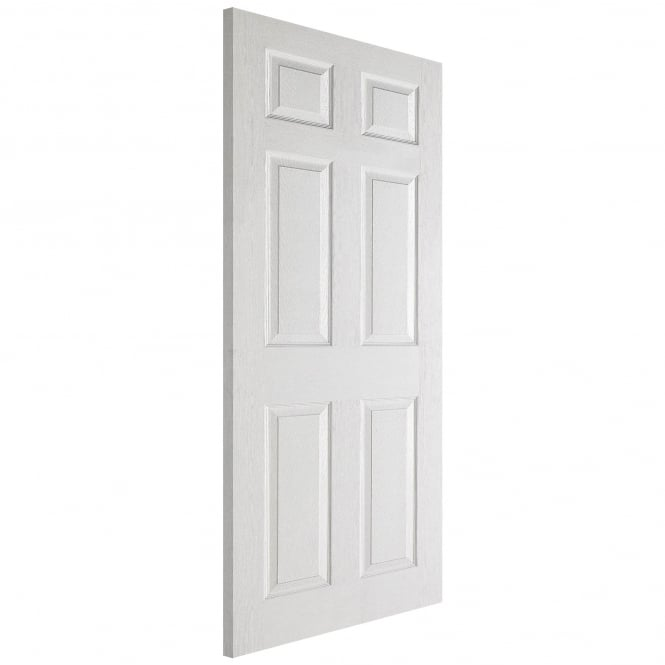 LPD Doors Internal White Moulded Textured 6 Panel Door