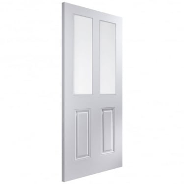 Internal White Moulded Unfinished Arlington 2L Door with Clear Glass (APARL+GCF)