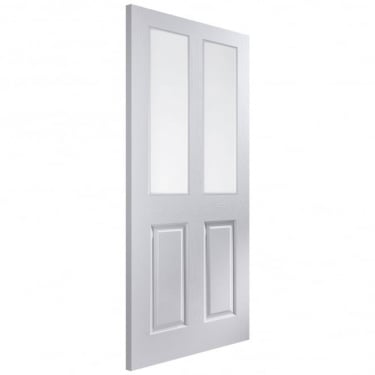 Internal White Moulded Unfinished Bostonian Oakfield 2L Door with Clear Glass (APOFD+GCF)