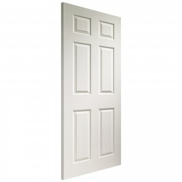 Internal White Moulded Unfinished Colonist 1981x838x35mm Door (WDWMC633)