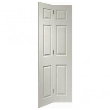 Internal White Moulded Unfinished Colonist Bi-Fold Door (WMBF6P)