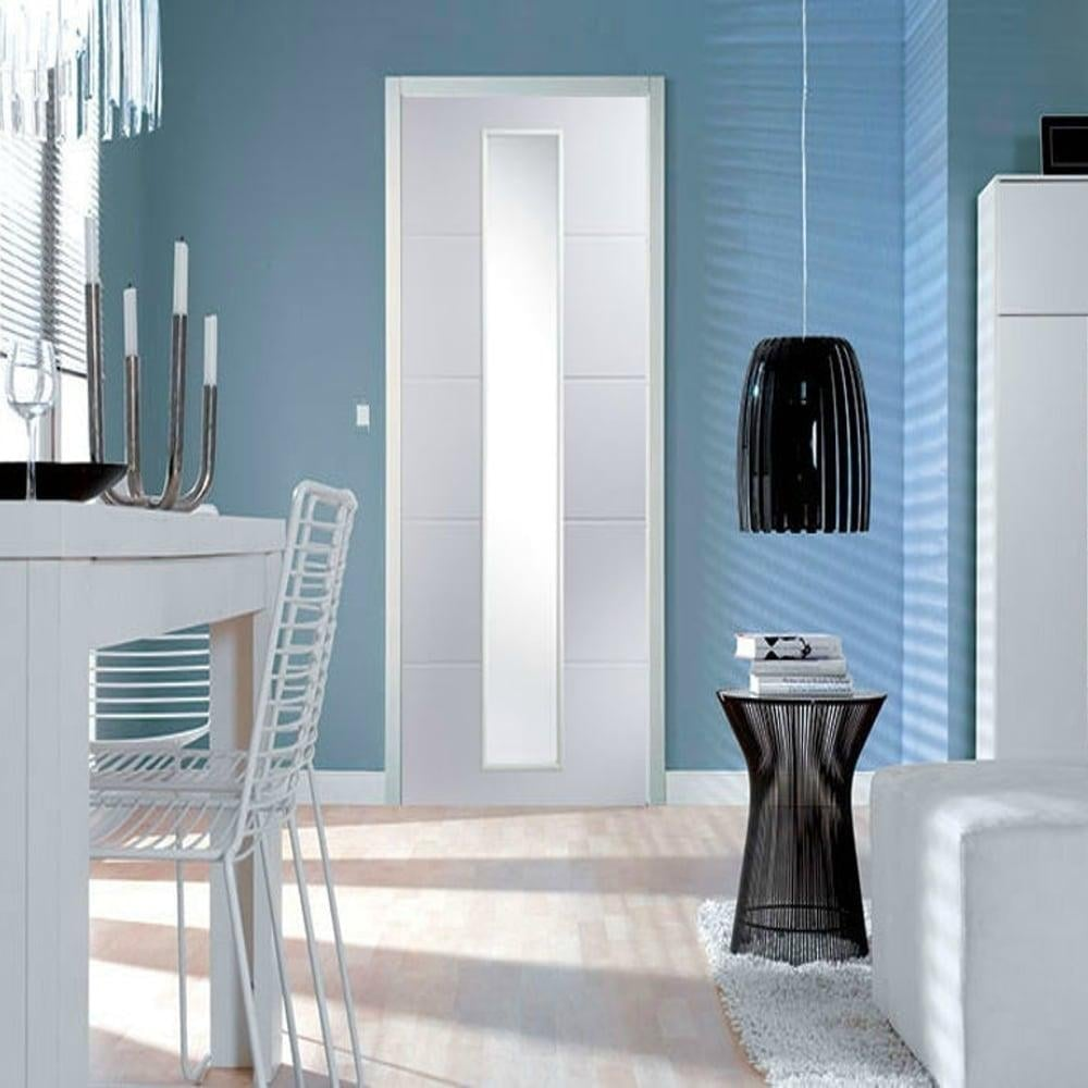 Jeld Wen Internal White Moulded Unfinished Linea Glazed Door