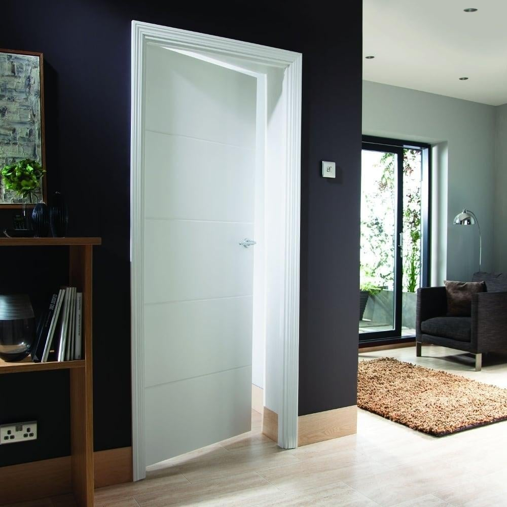 Jeld Wen Internal White Moulded Unfinished Linea Door Leader Doors