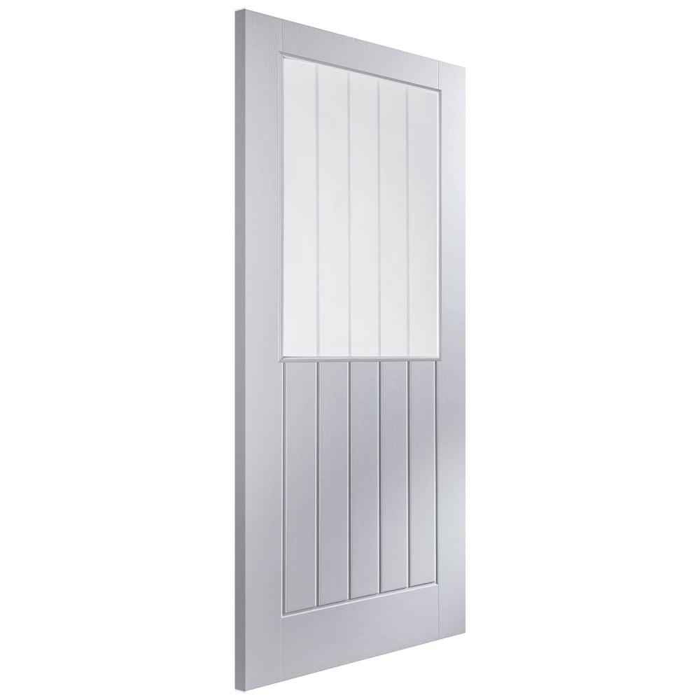 Jeld Wen Internal White Moulded Unfinished Newark Glazed Door