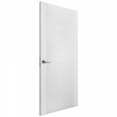 Internal White Moulded Unfinished Ripple Door (LIBWMRIP)