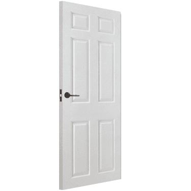 Internal White Moulded Unfinished Smooth Square Top FD30 Fire Door (FCSMO6P)