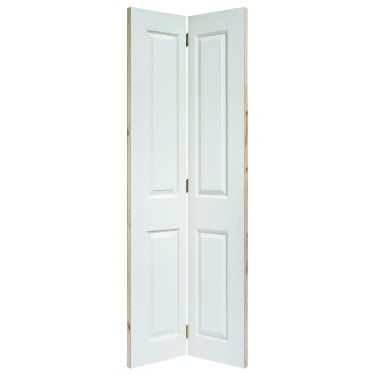 Internal White Moulded Unfinished Textured Bi-Fold 4P Door (BFTEX4P)