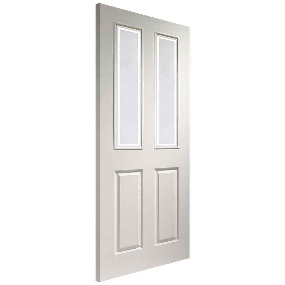 Xl Joinery Victorian White Moulded Decorative Glass