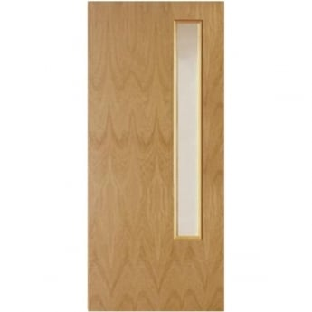 Jeld-Wen Internal White Oak Crown Cut Clear GC06 Glass 44mm Fire Door