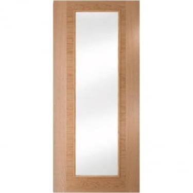 Internal White Oak Fully Finished Fusion 1L Flush Heavyweight Door with Clear Glass (WOKHVSSC1+GCF)