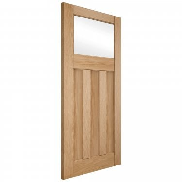 Internal White Oak Unfinished Deco 1L 3P Door with Clear Glass (OAKDEC3+GCF)