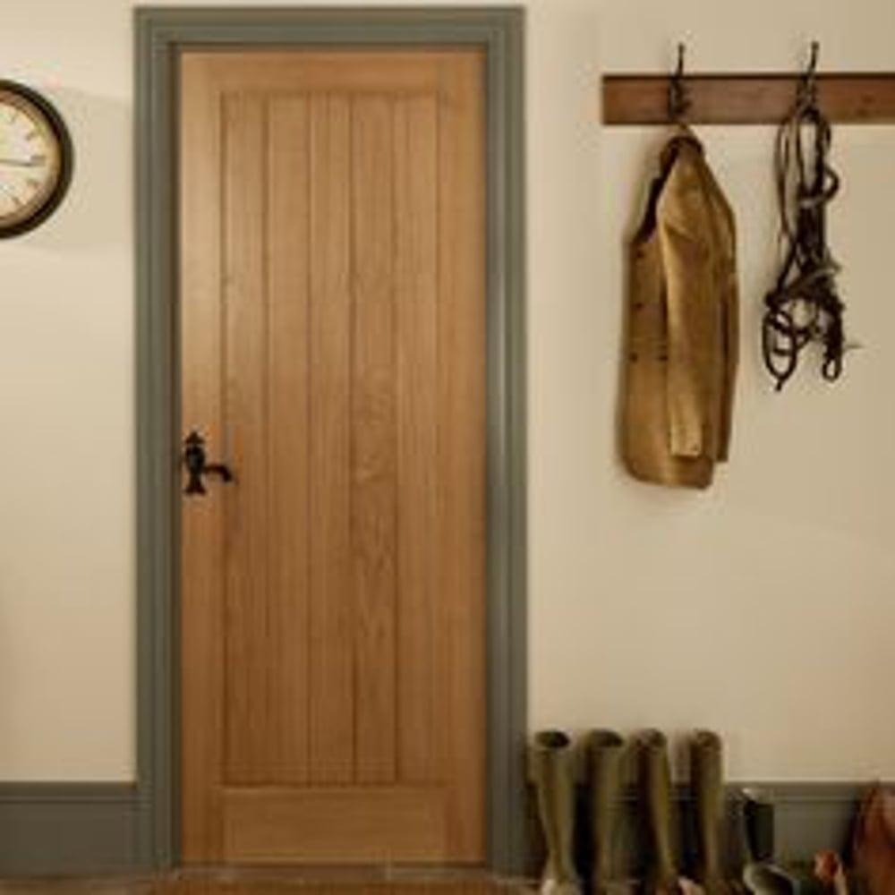 Jeld Wen Internal White Oak Unfinished Oregon Cottage Door Leader