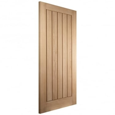 Internal White Oak Unfinished Oregon Cottage 35mm FD30 Fire Door (WOAKFLF)