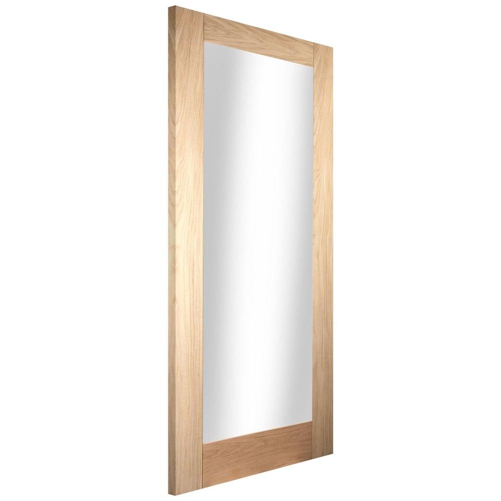 Internal White Oak Unfinished Shaker 1l Door With Clear Glass Woakshak1 Gcf