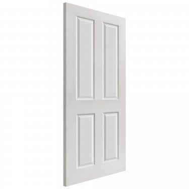 Internal White Primed 4 Panel Classic Smooth Canterbury FD30 Fire Door (SMCANHH)
