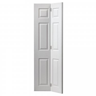 Internal White Primed 6 Panel Classic Grained Colonist Bi-Fold Door (COLBF)