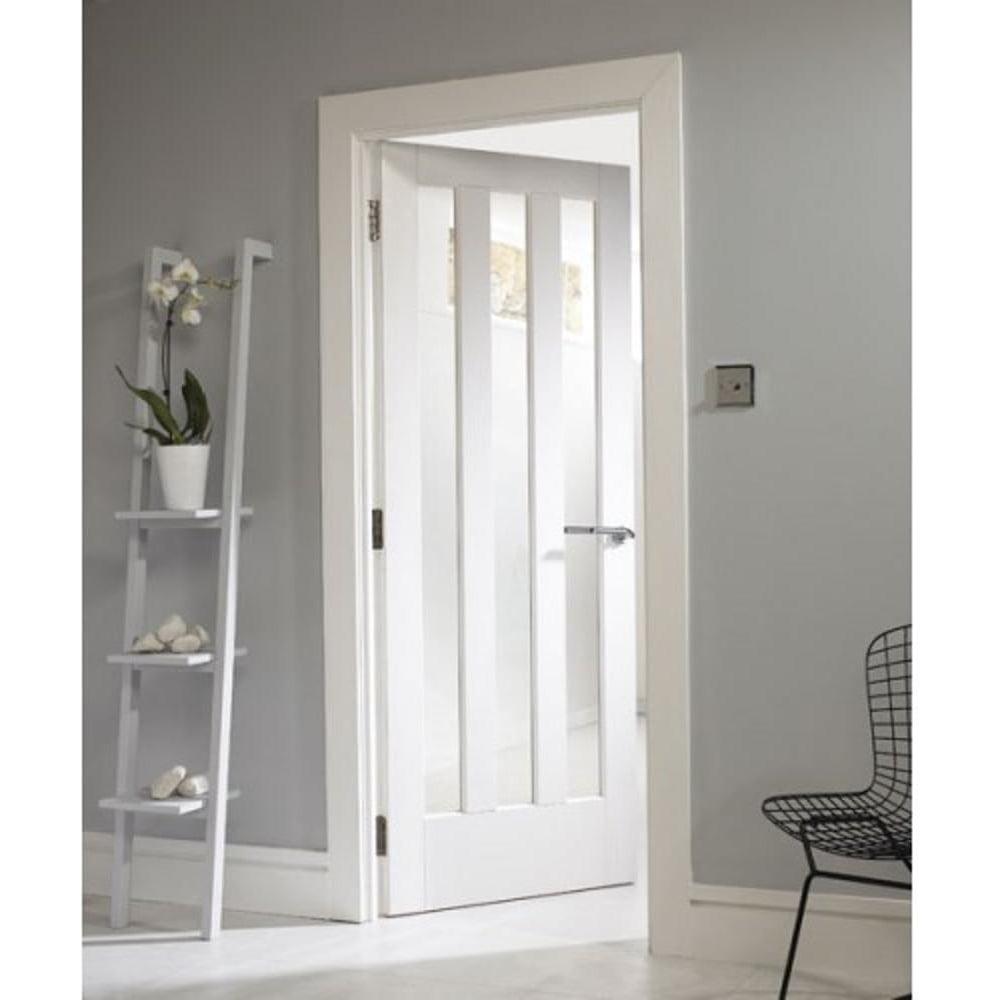 Jeld Wen Internal White Primed Aston Glazed Door Leader Doors