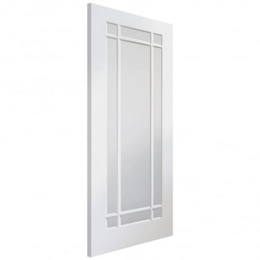Internal White Primed Cheshire Door with Clear Glass