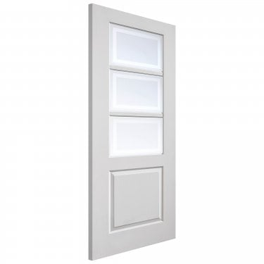 Internal White Primed Classic Andorra 3L Door with Etched Clear Glass (CAPAND)