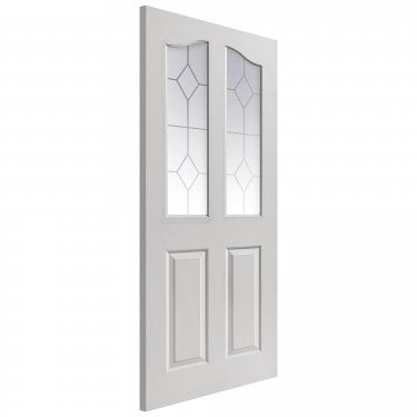 Internal White Primed Classic Edwardian 2L Door with Etched Clear Glass (EDGLS)