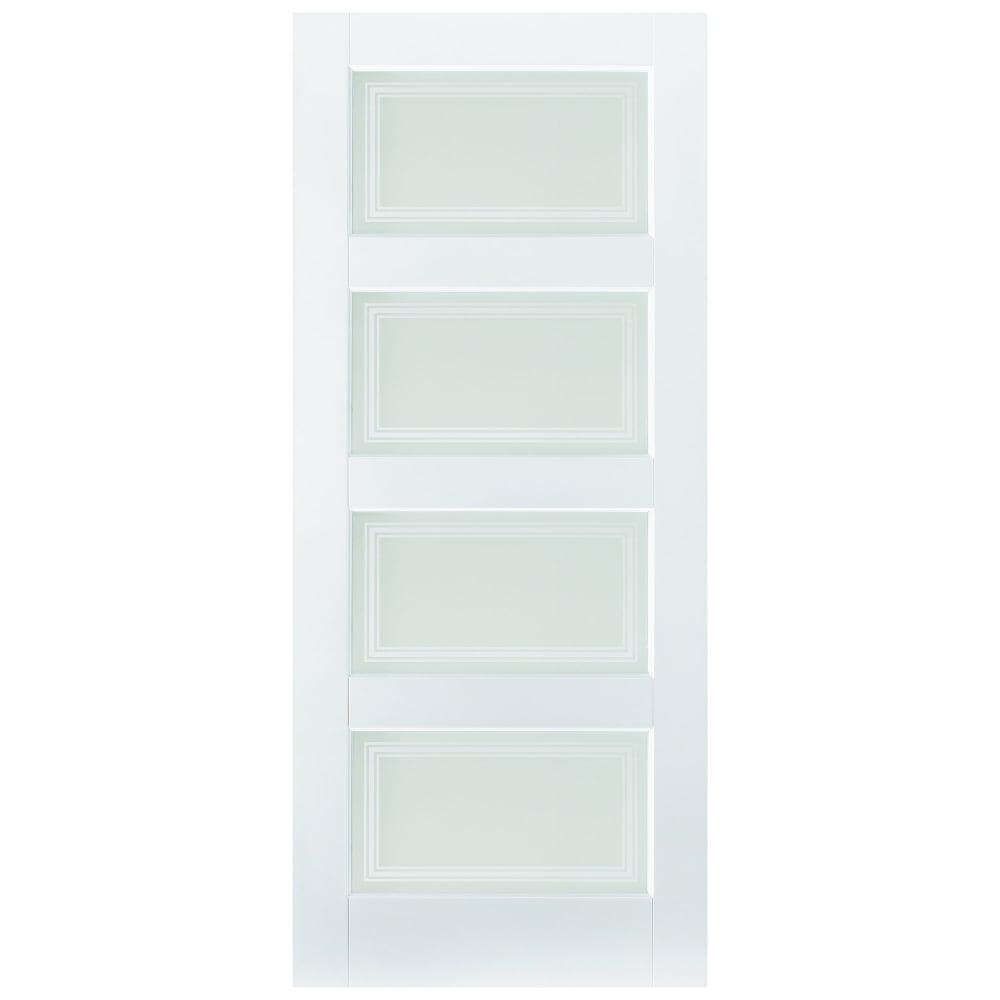 Lpd Internal White Primed Contemporary Glazed Door Leader Doors
