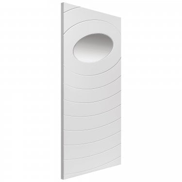 Internal White Primed Contemporary Oriole 1L Door with Clear Glass (LORI)