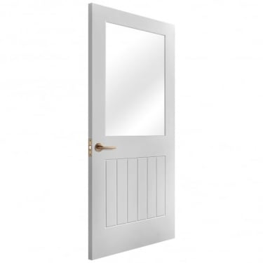 Internal White Primed Cottage 1L Door with Clear Glass (IWPSUFCG)