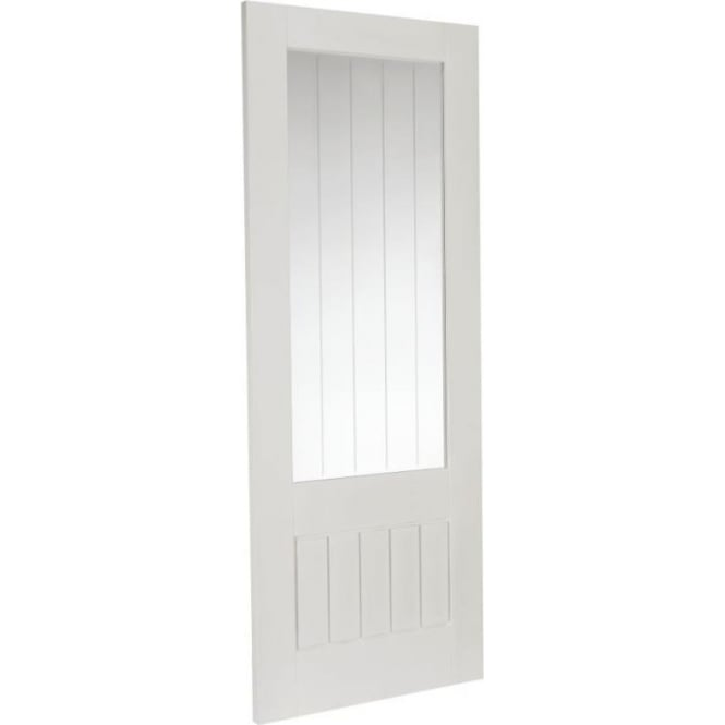 Internal White Primed Cottage Etch Glass Door
