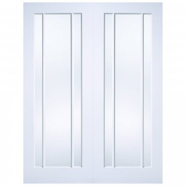Internal White Primed Lincoln 6L Pair Door with Clear Glass (WFPRSLING)