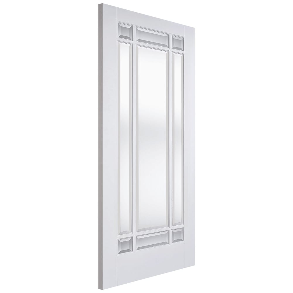 Lpd Internal White Primed Manhattan Door With Clear