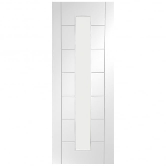 XL Joinery Internal White Primed Palermo 1 Light Door with Clear Glass