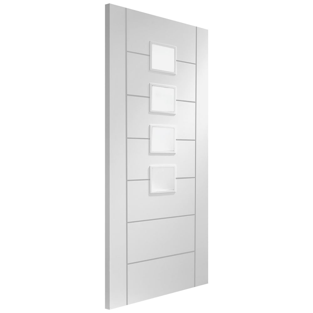 Xl joinery palermo white primed door leader doors - White doors with glass internal ...