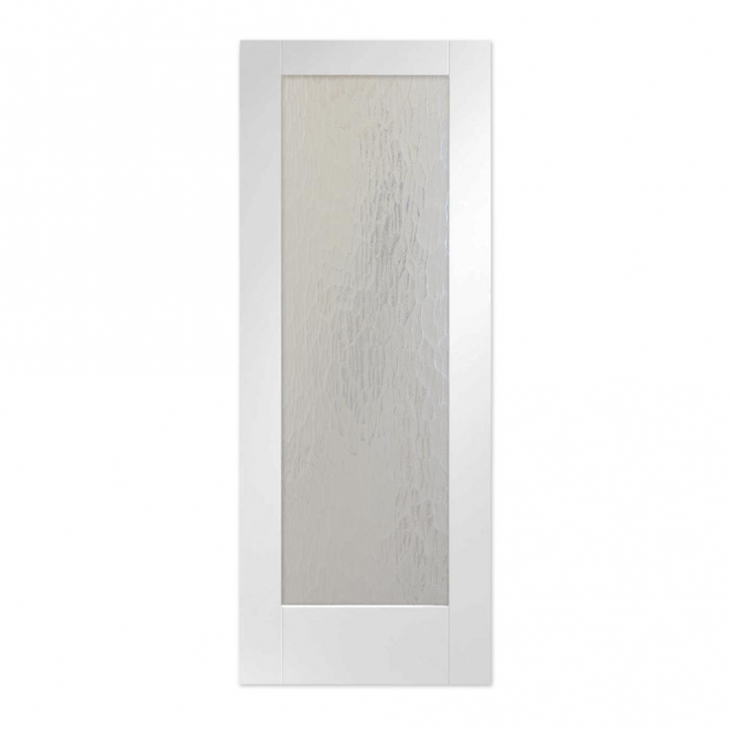 WoodDoor+ Internal White Primed Pattern 10 Door With Mottled Obscure Glass