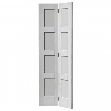 Internal White Primed Pattern 10 Shaker Montserrat Bi-Fold Solid Door (CMONBF)