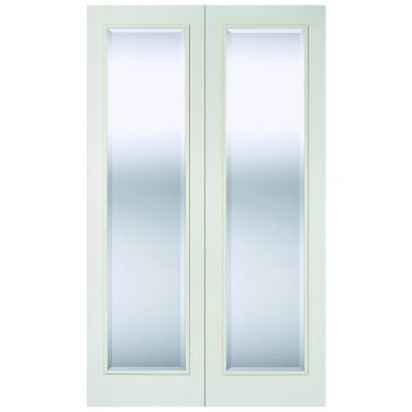 Internal White Primed Pattern 20 Pair Doors with Clear Glass