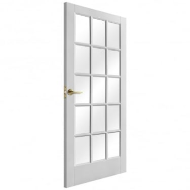 Internal White Primed SA 15L Door with Clear Glass (IWPSA15CG)
