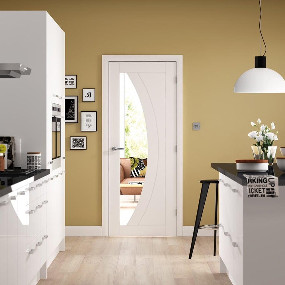 Xl Joinery Internal White Primed Salerno Glazed Door Leader Doors